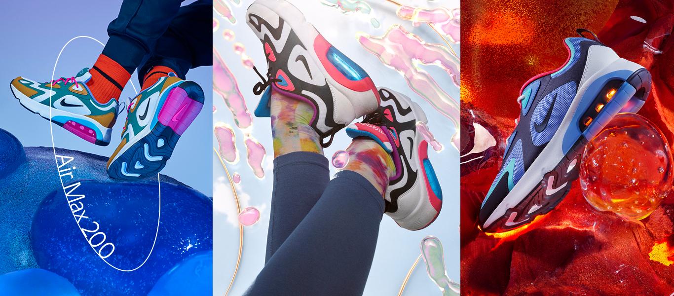 Nike Air Max 200 kolmessa eri sävyssä
