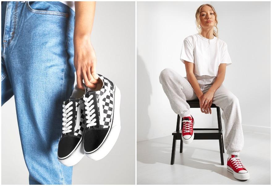 trendikkäät platform-kengät